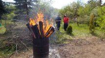 Grzywna za spalanie odpadów w ognisku