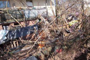 uprzątnięto 36 ton złomu i gruzu