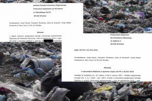 Po pożarze odpadów