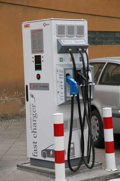 Stacja ładowania dużej mocy dla samochodów elektrycznych