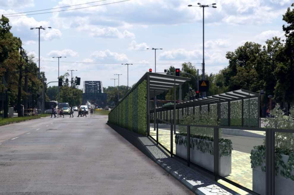 zielony przystanek w Toruniu
