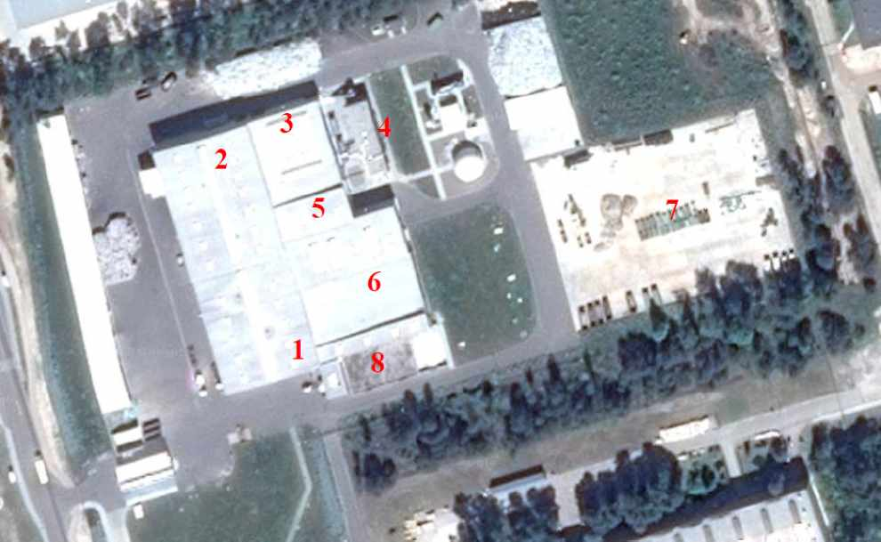 Lokalizacja punktów pomiarowych na terenie jednego z zakładów