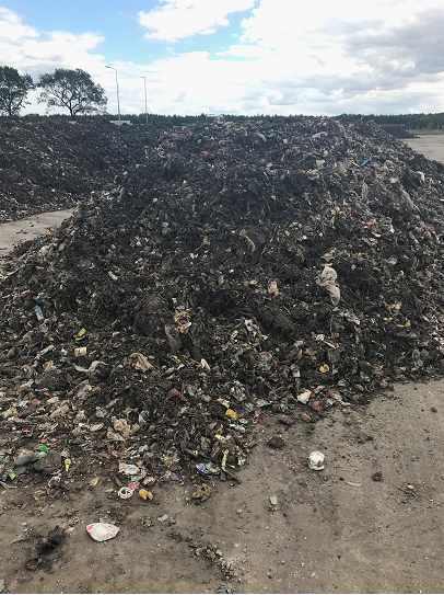 Plac stabilizacji tlenowej drugiego stopnia odpadów [fot. M. Wiśniewska]