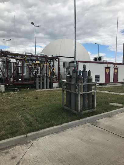 Układ uzdatniania, magazynowania i kogeneracji biogazu [fot. M. Wiśniewska]