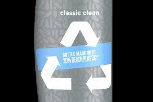 Butelka szamponu z plastikowych odpadów