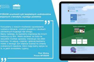 ochrona powietrza na audiobookach