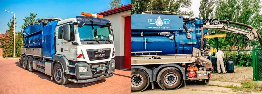 Samochód specjalistyczny do czyszczenia kanalizacji