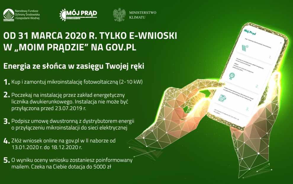"""e-wnioski w programie """"Mój Prąd"""""""