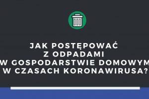 Koronawirus a odbiór odpadów