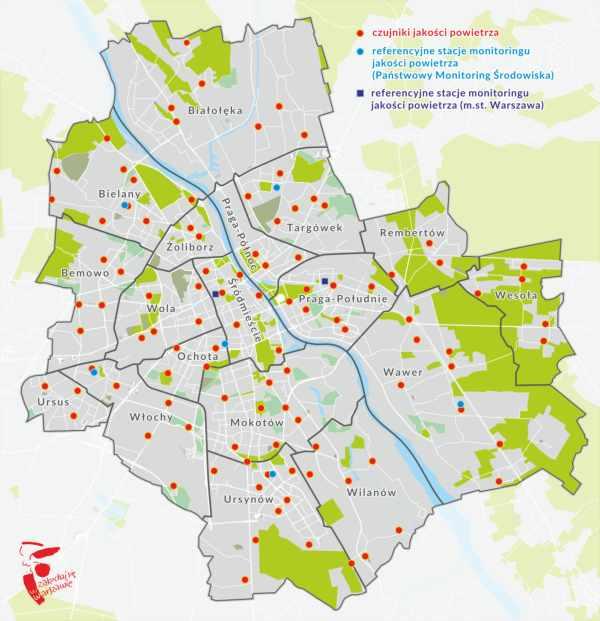 Monitoring powietrza w Warszawie