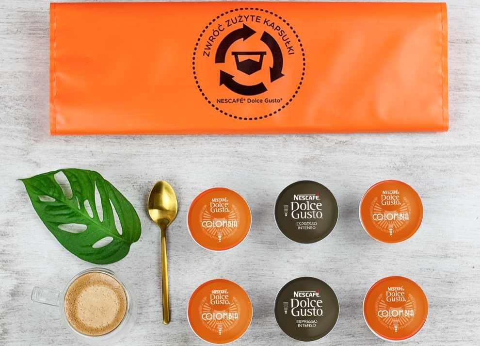 Zużyte kapsułki po kawie