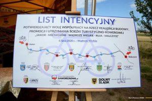 ścieżka rowerowa łącząca gminy
