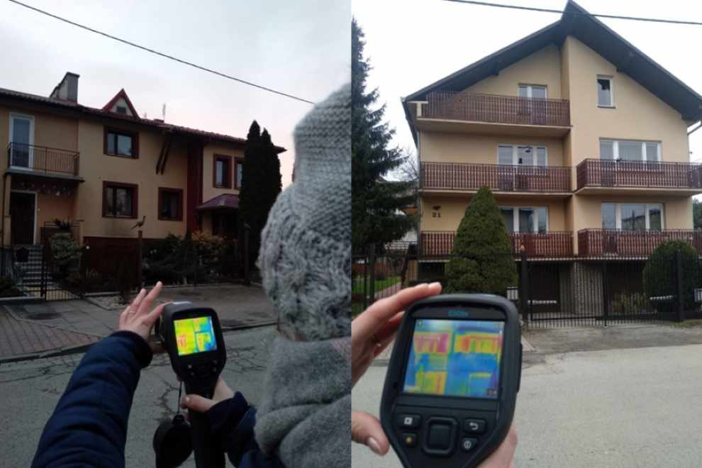 Badania utraty ciepła fot. Wydział ds. Jakości Powietrza UM Krakowa