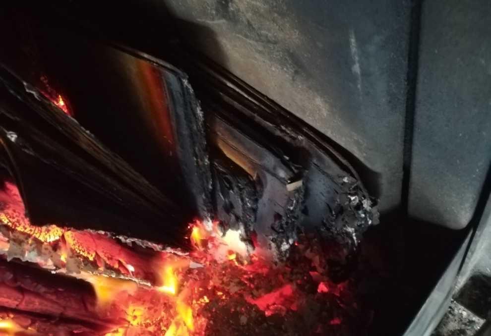 Spalanie odpadów w palenisku