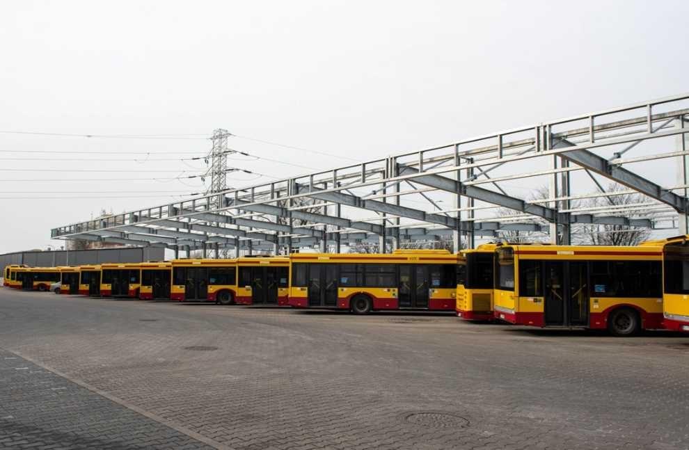 Wiata dla autobusów elektrycznych