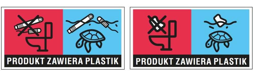Produkt zawiera plastik
