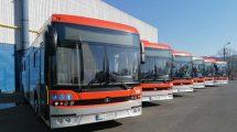 Sześć gazowych autobusów
